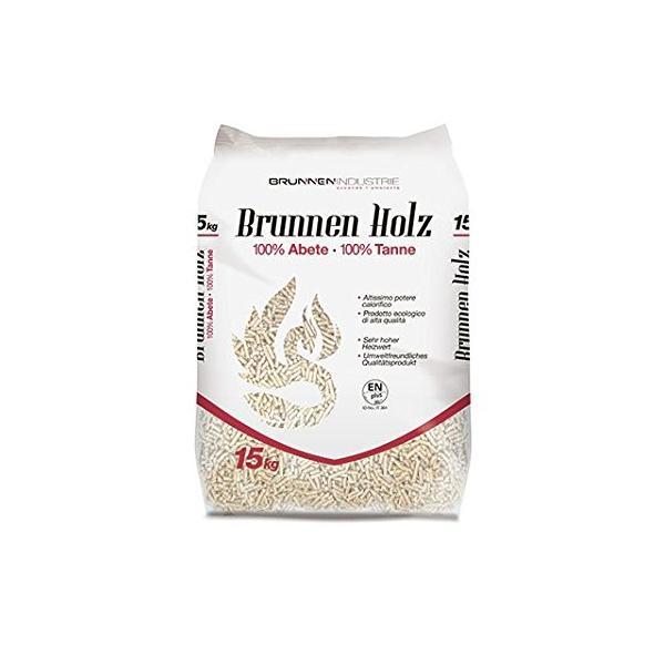 PELLET - pellet BRUNNEN HOLZ sacco da 15 KG