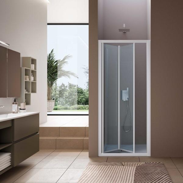SAMO - box doccia con due ante a soffietto